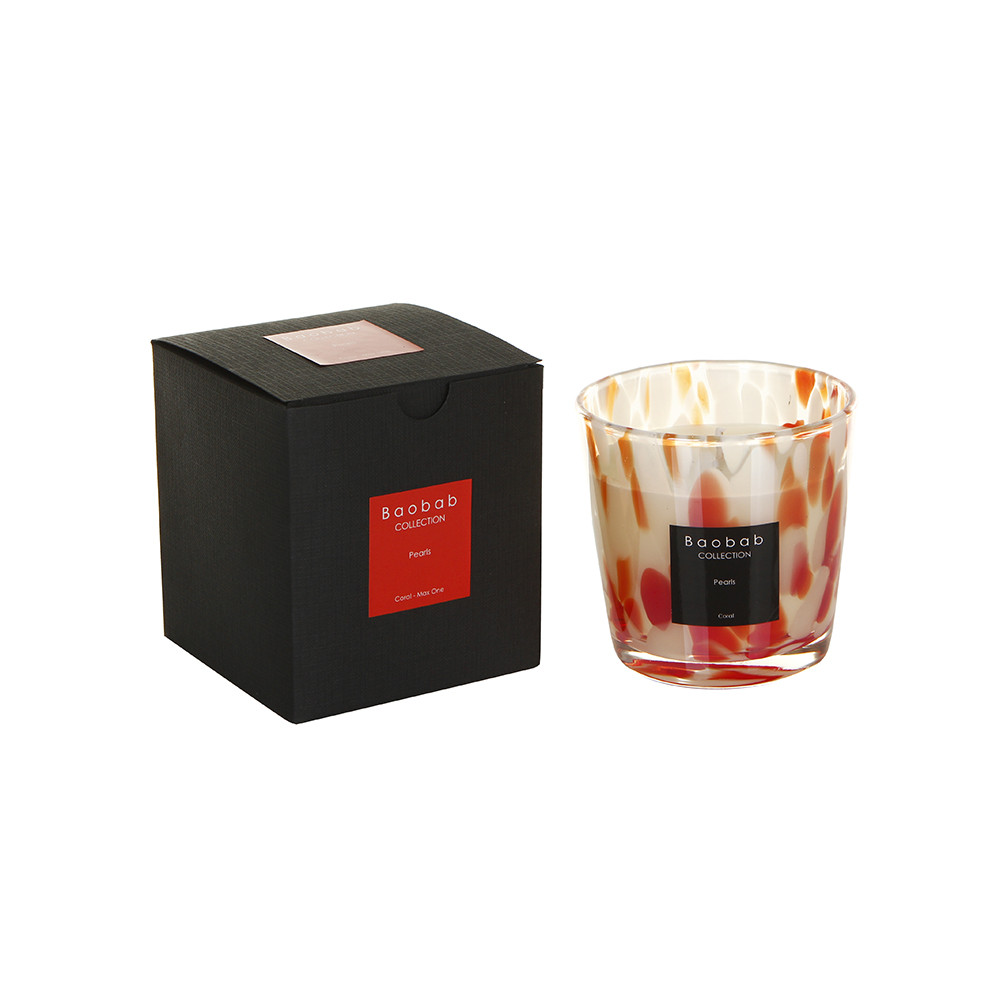 Baobab Collection - Pearls Scented Candle - Coral Pearls - 6.5cm