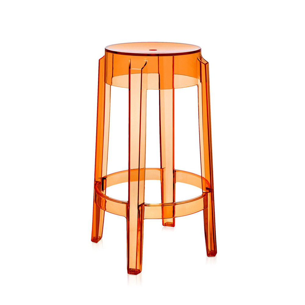 Kartell - Charles Ghost Hocker - Orange - 65cm