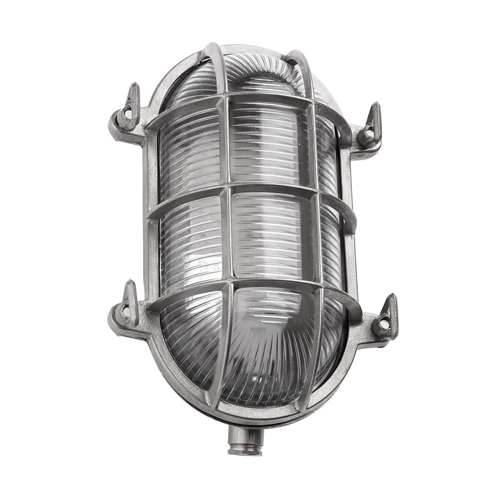 Oval Bulkhead Light Nickel Large
