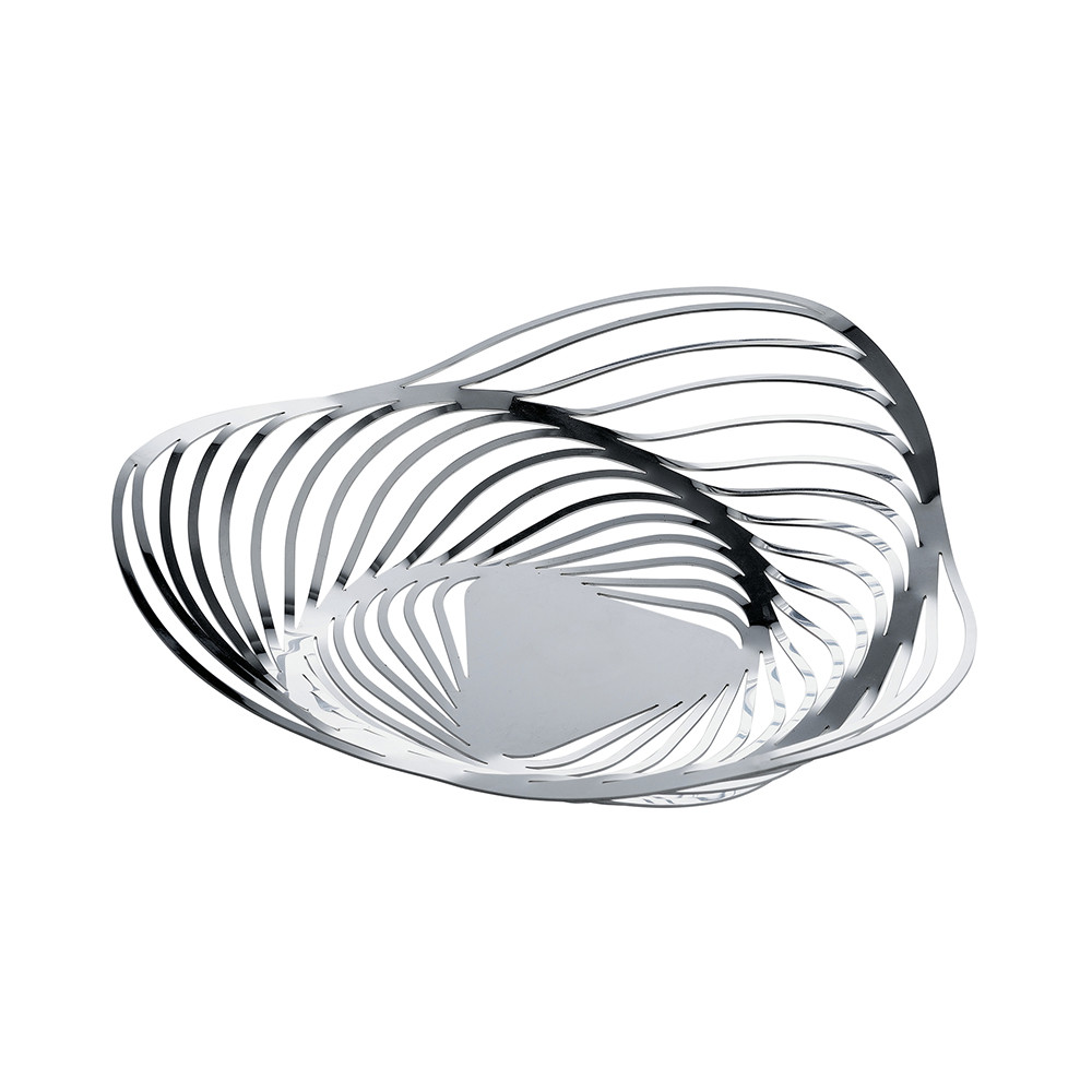 buy alessi trinity fruit bowl  stainless steel  amara -