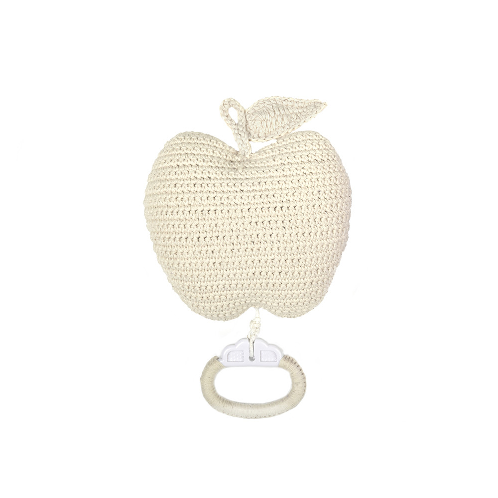 Anne-Claire Petit - Crochet Apple Musical Toy - Nature