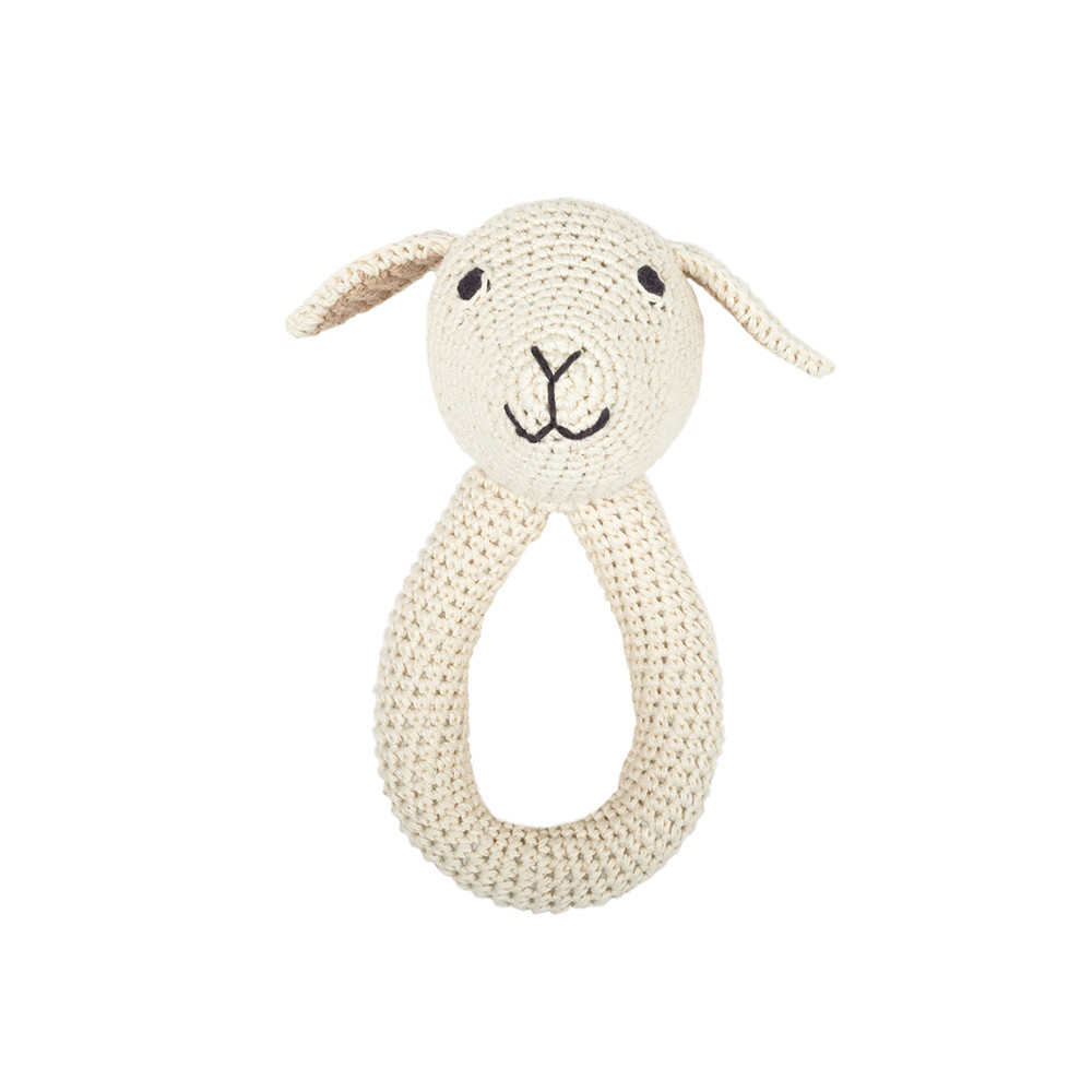 Anne-Claire Petit - Lamb Ring Baby Toy - Nature
