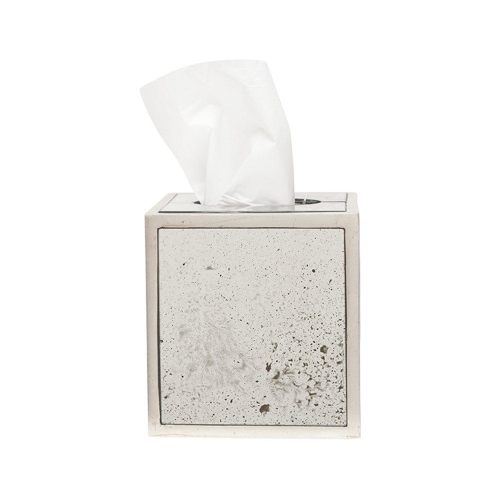 Pigeon & Poodle - Atwater Tissue Box - Silver Leaf