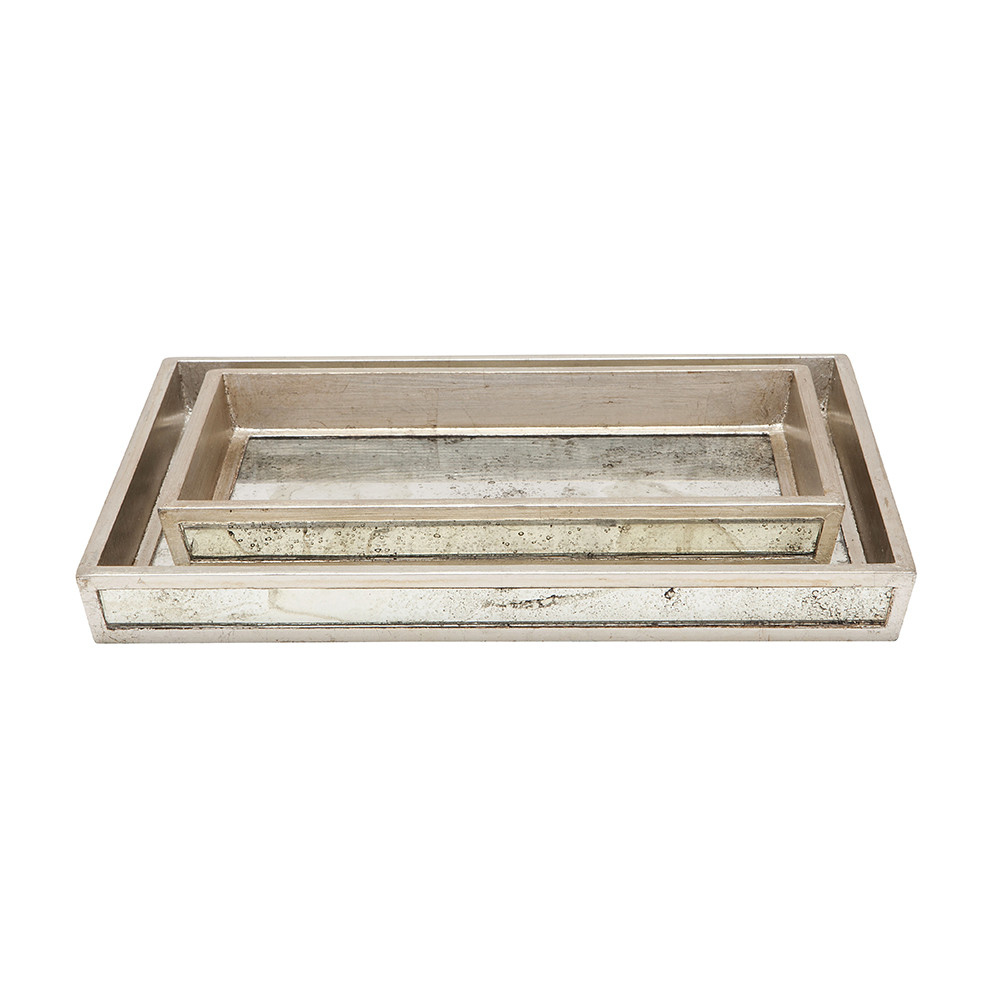 Pigeon & Poodle - Atwater Tray Set - Silver Leaf