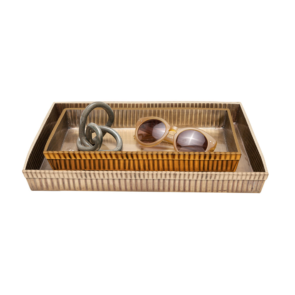 Pigeon & Poodle - Redon Tray Set - Antique Brass