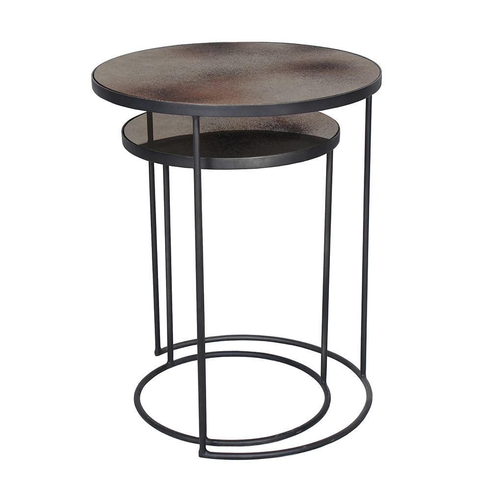 Buy Notre Monde Nesting Side Table Set   Bronze | Amara