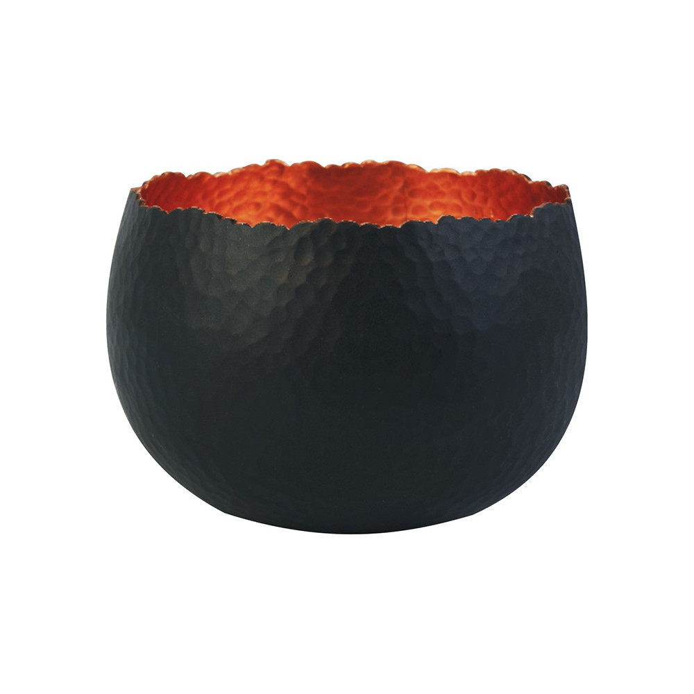 Iron  Clay - Hammered Bowl - 30cm - Black/Copper