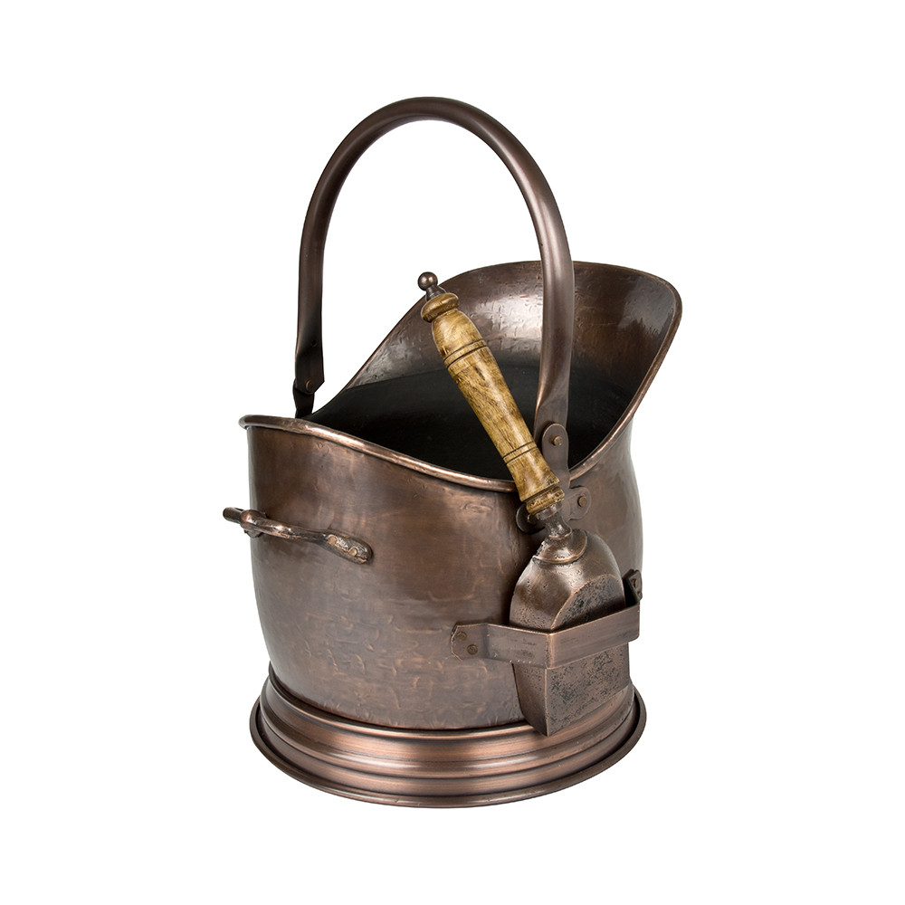 Iron  Clay - Antique Copper Coal Bucket