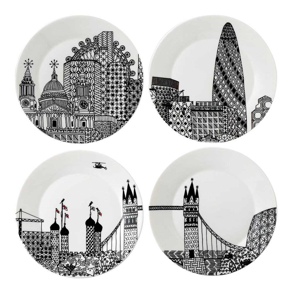 sc 1 st  Amara & Buy Royal Doulton London Calling Plates - Set of 4 | Amara