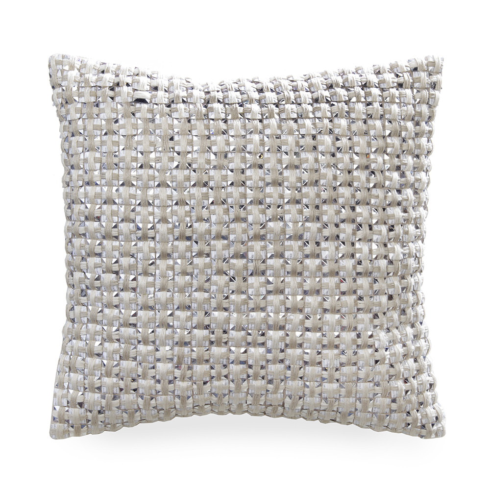 Gingerlily  Silk Cube Bed Cushion  Ivory