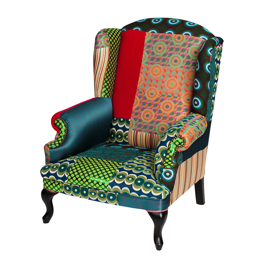 Buy Desigual Patchwork Armchair - Green | Amara