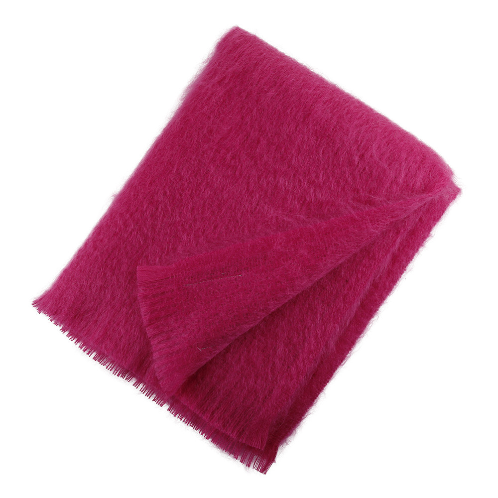 Bronte by Moon - Mohair Throw - Cactus Pink