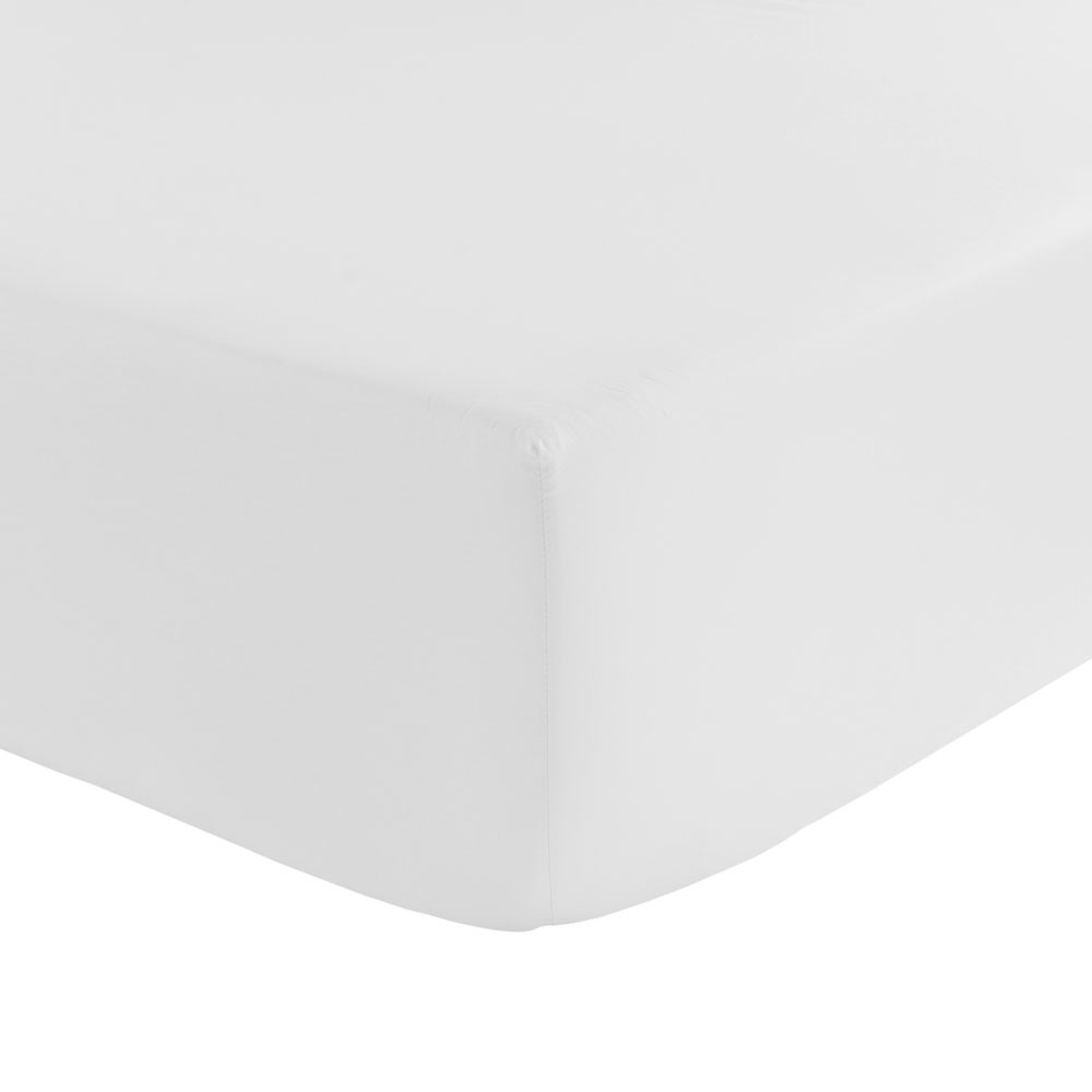 Olivier Desforges  Alcove Fitted Sheet  White  Single