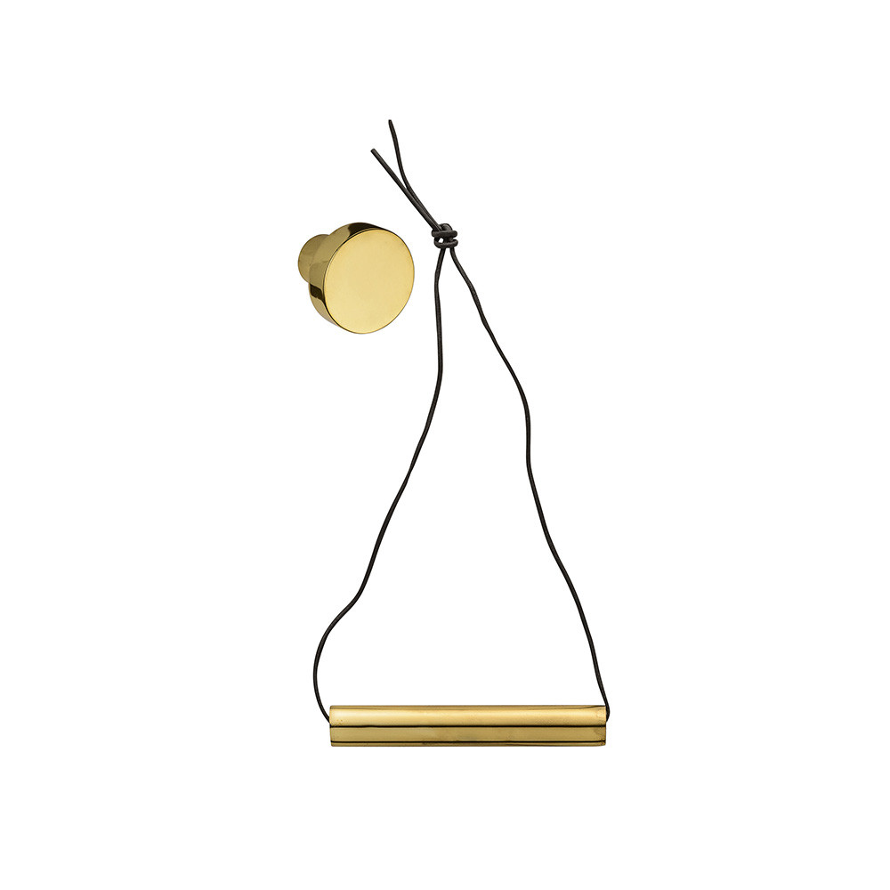 buy hanging gold toilet roll holder with leather strap amara