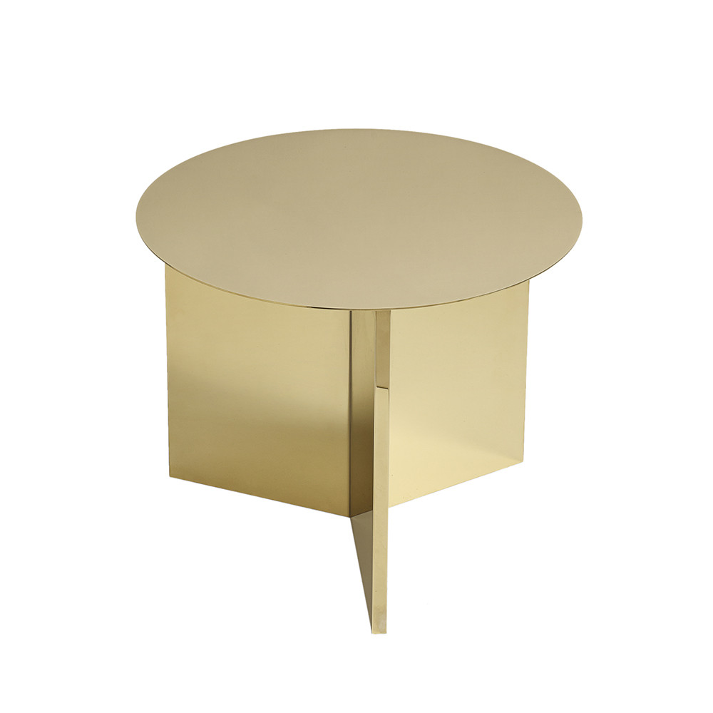 buy hay slit table round brass amara. Black Bedroom Furniture Sets. Home Design Ideas