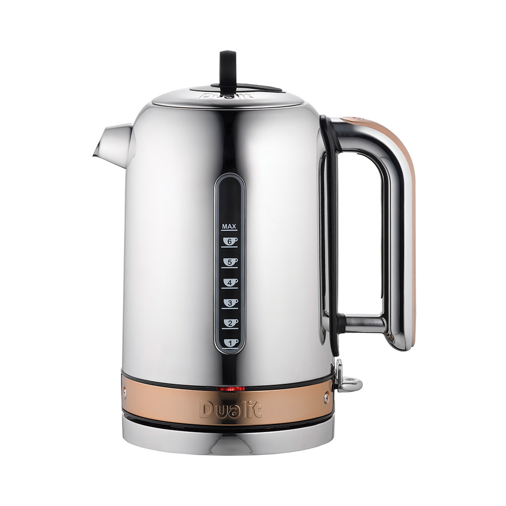 buy dualit classic kettle  chrome with copper  amara -