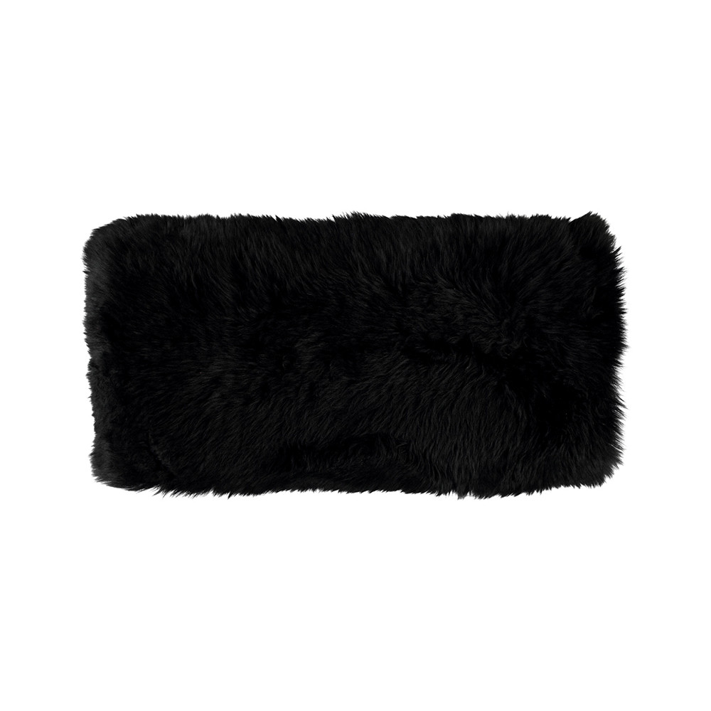 Essentials - New Zealand Sheepskin Pillow - 28x56cm - Black