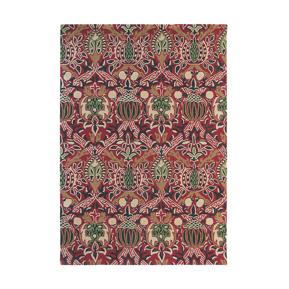 Morris & Co - Granada Rug - Red/Black - 170x240cm
