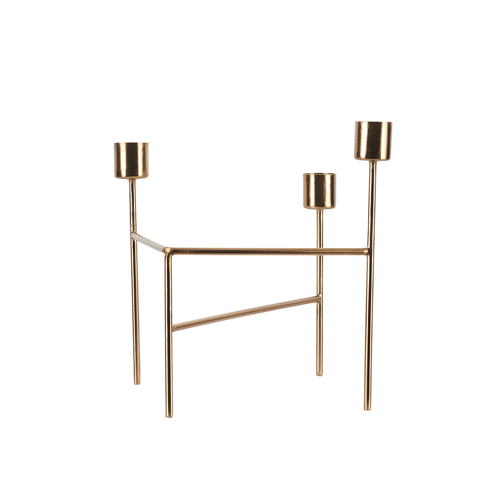 House Doctor - Candle Holder - Brushed Brass