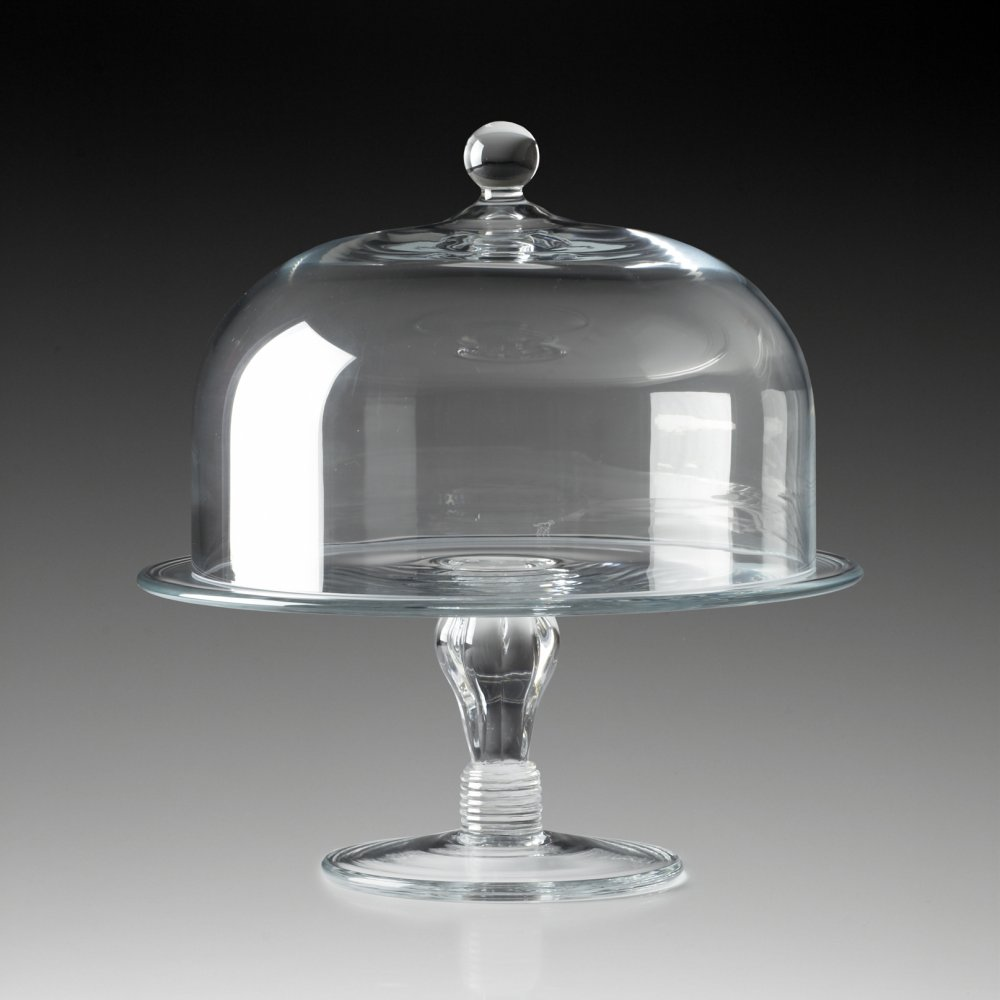 Cake Stand With Dome Crystal