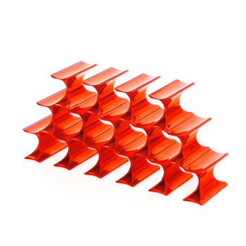 Infinity Bottle Rack - Orange