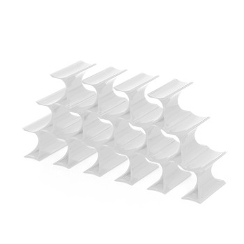 Infinity Bottle Rack - White