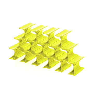 Infinity Bottle Rack - Yellow