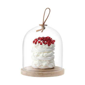 Ivalo Pastries/Cheese Dome & Ash Base - 15cm Dia.