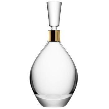Julia Gold Neck Decanter