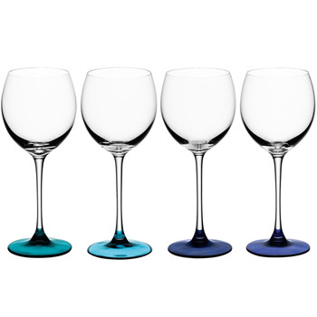 Coro Assorted Wine Glasses - Set of 4 - Lagoon