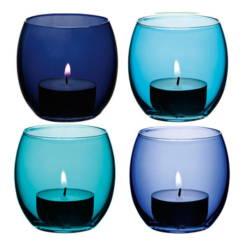 Coro Assorted Tealight Holders - Set of 4 - Lagoon