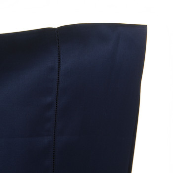 Langdon Solid Pillowcases - Navy - Set of 2 - 65x65cm