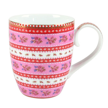 Large Ribbon Rose Mug - Pink