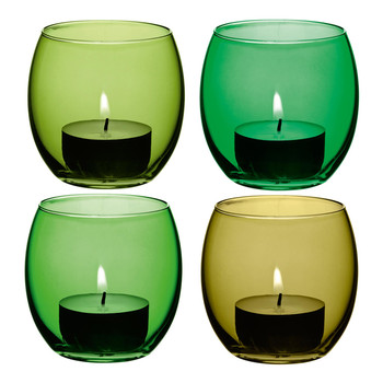 Coro Assorted Tealight Holders - Set of 4 - Leaf