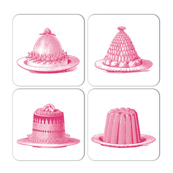 Jelly & Cake Coaster - Set of 4