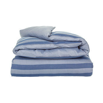Rig Stripe Duvet Cover - Mid Blue