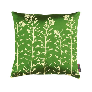 Heart Grasses Cushion - 45x45cm - Moss/Lemon