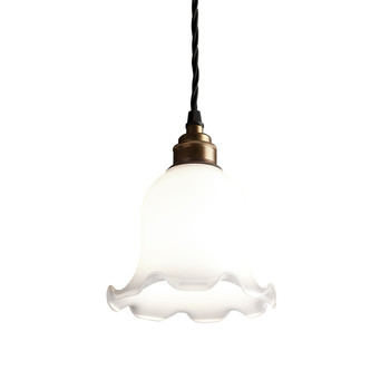 Opal Glass Pendant Light - Tulip