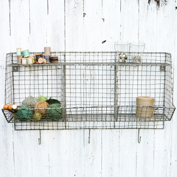Locker Room Storage Shelf - Distressed Grey