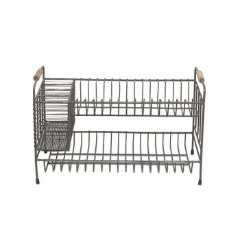 Tilmo Dish Rack - Distressed Grey