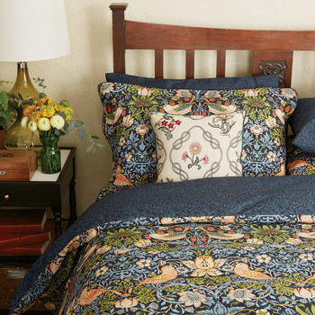 Strawberry Thief Duvet Cover - Indigo