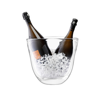Dual Champagne Bucket - Clear