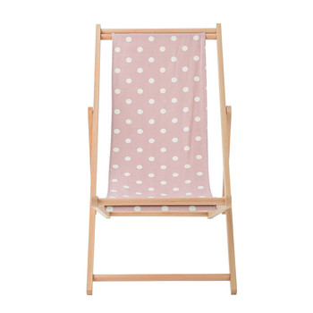 Deck Chair - Mauve Dots