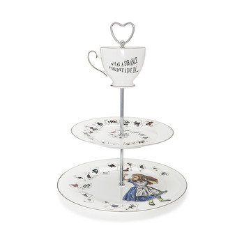 Alice in Wonderland 3 Tier Cake Stand