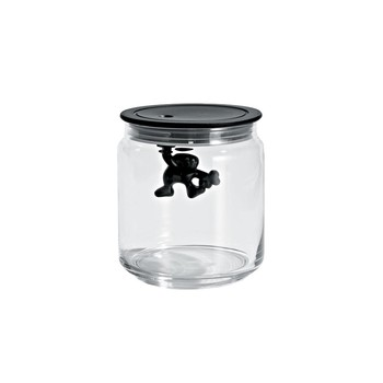Gianni Glass Storage Jar - Black