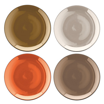 Polka Assorted Tea Plates - Set of 4 - Metallic