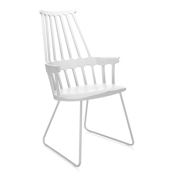 Comback Sled Chair - White