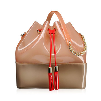 Grace K Handbag - Dove/Peach
