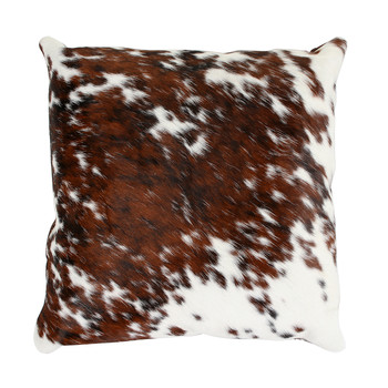 Speckled Cowhide Pillow - 45x45cm - Brown