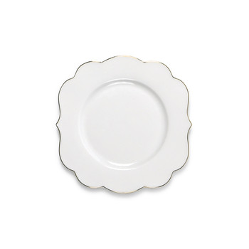 Royal Pip Cake Plate - White